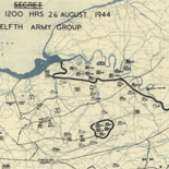[August 26, 1944], HQ Twelfth Army Group situation map.