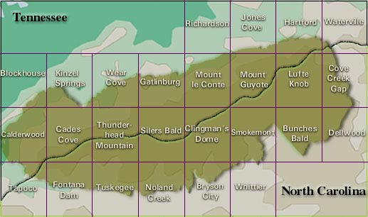 Maps of Great Smoky Mountains National Park  Mapping the National