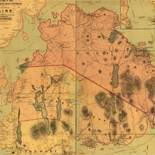 Map of Mount Desert Island.