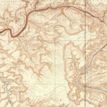 Topographic map of the Grand Canyon National Park Arizona.