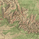 Map of Grand Canyon National Park.