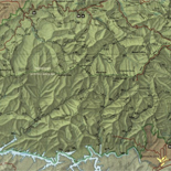 Great Smoky Mountains National Park, North Carolina-Tennessee, trail map