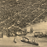 Bird's eye view of Key West, Fla., Key West Island, C.S. Monroe Co., 1884