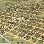 Bird's eye view of the city of Mount Vernon