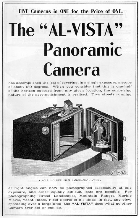 a brief history of panoramic photography panoramic photographs  advertisement for the al vista camera