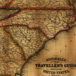 Mitchell's new traveller's guide through the United States, showing the rail roads, canals, stage roads &c. with distances from place to place.