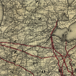 Railroad map showing the lands of the Standard Coal and Iron Co. situated in the Hocking Valley, Ohio, and their relation to the markets of the north and west.