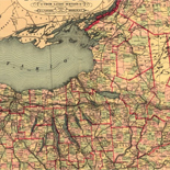 Tunison's railroad, distance, and township map of New York from latest surveys.
