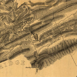 A map of the Virginia Central Railroad, west of the Blue Ridge, and the preliminary surveys, with a profile of the grades.