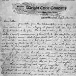 Letter, Wilbur Wright to Milton Wright, September 23, 1900