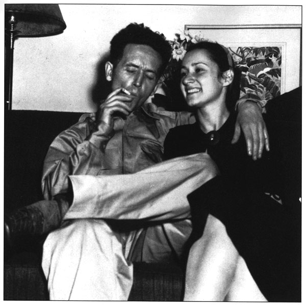 Woody Guthrie and Marjorie Mazia. Courtesy of the Woody Guthrie Foundation and Archives External (New York), Album 5 p. 1, 1999-9/1.