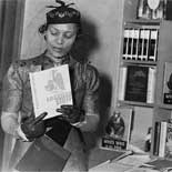 Zora Neale Hurston photographed at New York Times Book Fair, undated