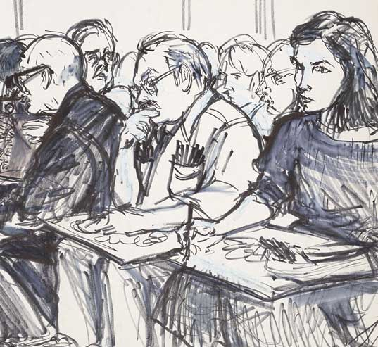 online exhibition drawing justice the art of courtroom