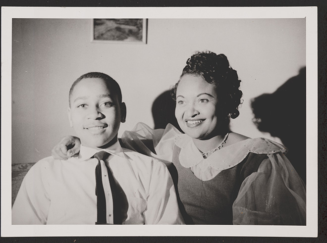 Emmett Till with His Mother