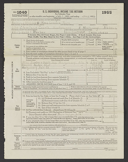 1955 Income Tax Return