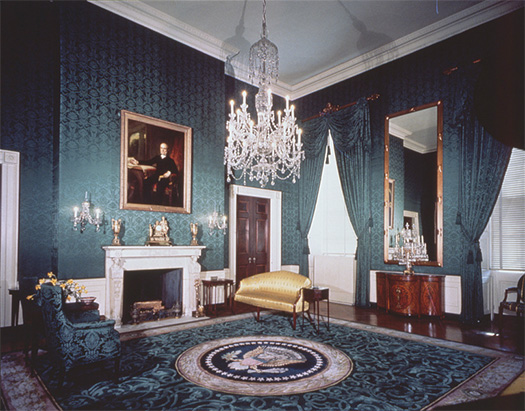 Prints U0026 Photographs Division White House Interiors. Green Room In The  White House. Theodor Horydczak, Photographer, 1946. Horydczak Collection.