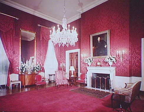 White House Interiors. Red Room In The White House. Theodor Horydczak,  Photographer, Circa 1920 Circa 1950. Horydczak Collection. Part 64