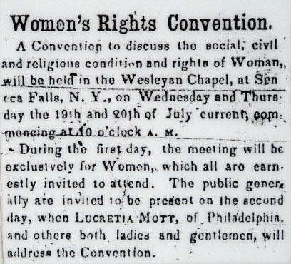 "seneca falls christian women dating site The 1848 seneca falls women's rights convention occurred in an atmosphere of idealistic reform this was the first meeting to be held for the purpose of discussing the ""social, civil, and religious conditions and the rights of woman"" it was the beginning of the women's rights movement in the united states."