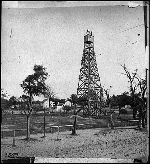 Jacksonville Fla Signal Tower Between 1860 And 1865 Civil War Glass Negatives And Related Prints Prints Photographs Division