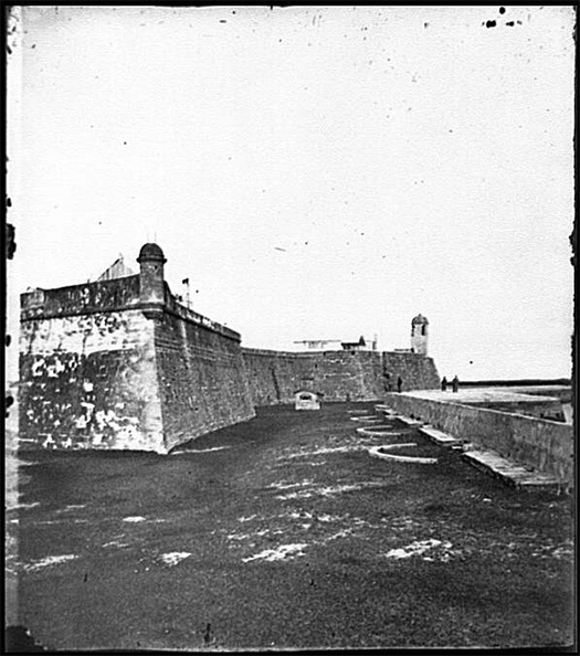 Bastions Of Fort Marion Sam A Cooley Photographer Between 1860 And 1865 Civil War Glass Negatives And Related Prints Prints Photographs Division