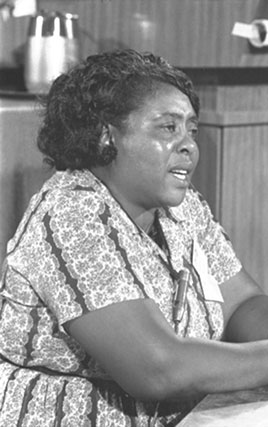 Fannie Lou Hamer, Mississippi Freedom Democratic Party delegate, Democratic National Convention, 1964