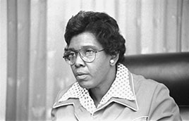 Congresswoman Barbara Jordan, head-and-shoulders portrait