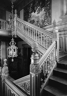 Stair, Balusters, James C. Burbank House, Saint Paul, Ramsey County, MN