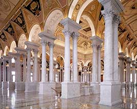 Great Hall at the Library of Congress's Thomas Jefferson Building