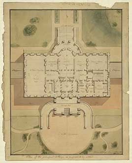 The White House. Site plan and principal story plan