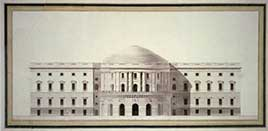 United States Capitol, Washington, D.C. Front elevation rendering