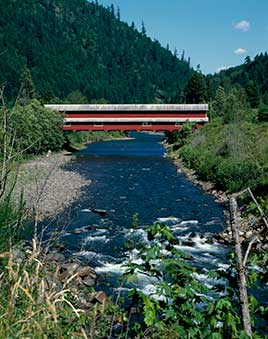 Office Bridge (also called Westfir Covered Bridge) is a covered bridge in Westfir, Oregon