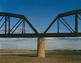 Calipso Bridge, Spanning Yellowstone River, Terry, Prairie County, MT