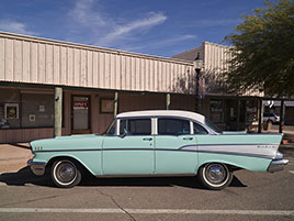 A vintage Chevrolet Bel-Air automobile, parked in Wickenburg...