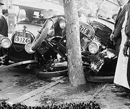 Automobile wreck. Photo by National Photo Co., 1918-1920