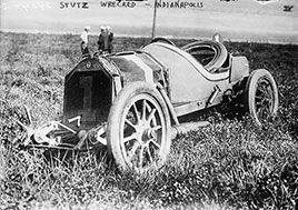 Stutz wrecked - Indianapolis. Photo by Bain News Service, about 1910-1915