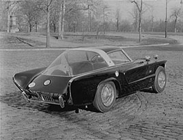 Raymond Loewy's Jaguar car. View V. Photo by Gottscho-Schleisner, 1956.