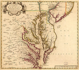 A new map of Virginia, Mary-Land, and the improved parts of Pennsylvania & New Jersey.