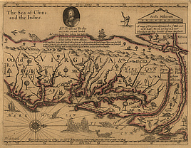 A mapp of Virginia discovered to ye hills...