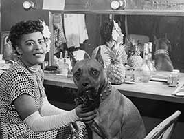 Portrait of Billie Holiday and Mister, Downbeat(?), New York, N.Y., ca. June 1946