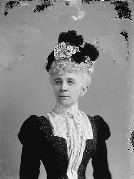 Mrs. M.A. Parham. Glass negative by C.M. Bell, 1894-1901. Prints & Photographs Division