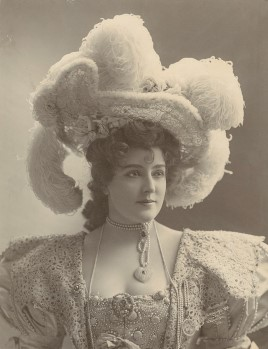Lillian Russell, wearing plumed hat. Photo by Wm. M. Morrison, 1898. Prints & Photographs Division