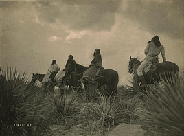 Before the storm (Apache people). Photo by Edward S. Curtis, 1906