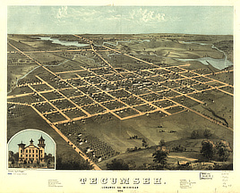 Tecumseh, Lenawee Co., Michigan 1868.
