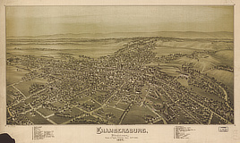 Chambersburg, Pennsylvania, burned by rebel cavalry July 30th 1864.
