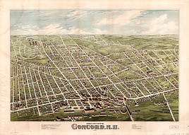 Bird's eye view of Concord, N.H. : 1875