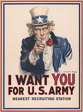 I want you for U.S. Army: nearest recruiting station / James Montgomery Flagg.