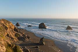 Scenic views along Route 1 near the Pacific Ocean in Northern California
