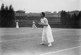 American tennis player Florence E. Sutton, achieved a national #2 ranking in 1911. Glass negative by Bain News Service, 1910-1915