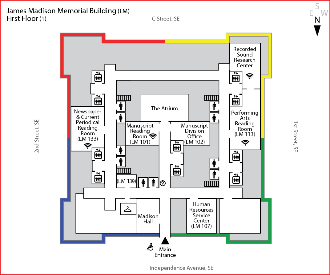 First Floor James Madison Memorial Building Maps