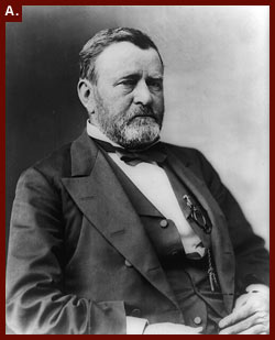 President Ulysses S. Grant, half-length portrait, seated, facing right], between 1869 and 1885